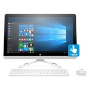 HP - PC tout-en-un 24-g182 X6G35AA#ABA 23,8 po, 1,6 GHz Intel Pentium QC J3710, DD 1 To, 8 Go DDR3, Windows 10 Famille