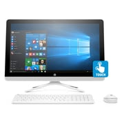 "HP 24-g192 X6G36AA#ABA 23.8"" All-in-One Computer, 1.6 GHz Intel Pentium QC J3710, 1 TB HDD, 8 GB DDR3, Windows 10 Home"