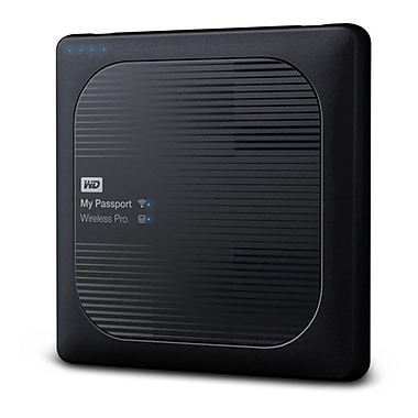 Western Digital My Passport Wireless Pro 1 TB Portable Hard Drive, Black