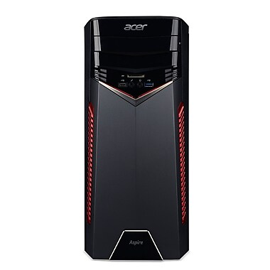 Acer - PC de table GX-785-ER12 DG.B83AA.006, 3 GHz Intel Core i5-7400, DD 2 To, 16 Go, Win10
