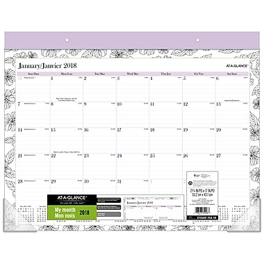 AT-A-GLANCE® 2018 Between The Lines Large Desk Pad, 22