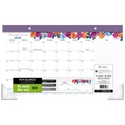 AT-A-GLANCE® – Calendrier sous-mains compact 2018 Eva, 17 3/4 po x 10 7/8 po