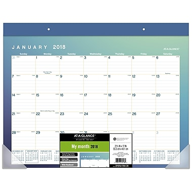 AT-A-GLANCE® 2018 Aurora Large Desk Pad, 22