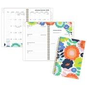 AT-A-GLANCE® – Agenda mensuel/hebdomadaire 2018, Flower Pop, moyen, 5 3/4 po x 8 1/8 po