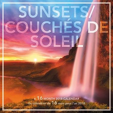 Landmark – Calendrier mural 2018, Couchers de soleil, bilingue