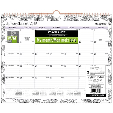 AT-A-GLANCE® 2018 Between The Lines Wall Calendar, 15