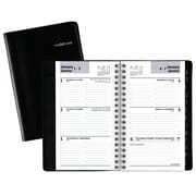 "AT-A-GLANCE® DayMinder® 2018 Recycled Weekly Appointment Book, 6"" x 3-3/4"", Black, Bilingual"