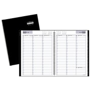 "AT-A-GLANCE® DayMinder Premiere® 2018 Recycled Weekly Appointment Book, 11"" x 8"", Black, Bilingual"