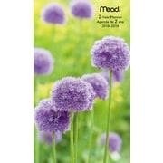 Mead® – Agenda de poche mensuel pour 2 ans 2018-2019, motif floral, bilingue