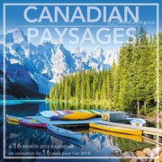 Daydream® – Calendrier décoratif de 16 mois 2018, paysages canadiens, bilingue