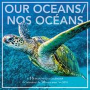 Mead® – Calendrier décoratif de 16 mois 2018, Nos océans, bilingue