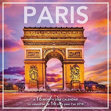 Mead® 2018 Wall Calendar, Paris, Bilingual
