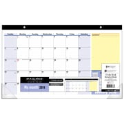 "AT-A-GLANCE® 2018 QuickNotes® Monthly Recycled Desk Pad Calendar, 17-3/4"" x 10-7/8"", Bilingual"