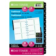 "Day-Timer® 2018 Dated Desk Planner Refills, 5-1/2"" x 8-1/2"", 2-Pages Per Week, Bilingual"