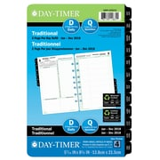 "Day-Timer® 2018 Dated Desk Planner Refills, 5-1/2"" x 8-1/2"", 2-Pages-Per-Day, Bilingual"