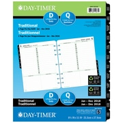 "Day-Timer® 2018 Dated Refills, Folio, 1-Page Per Day, 8-1/2"" x 11"", Bilingual"