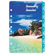 "Day-Timer® 2018 Coastlines Themed Desk Planner Refills, 5-1/2"" x 8-1/2"", 2-Days Per-Page, Bilingual"