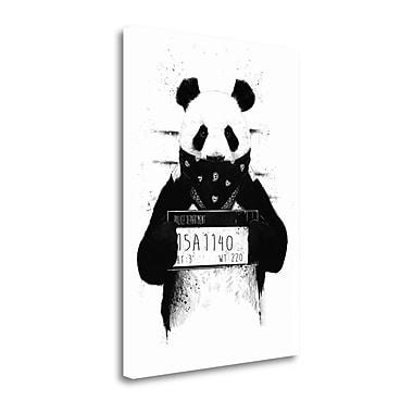 Tangletown Fine Art 'Bad Panda' Graphic Art Print on Wrapped Canvas; 40'' H x 28'' W