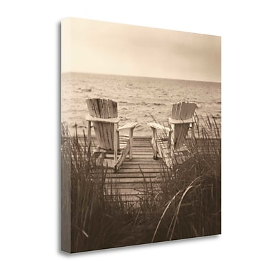 Tangletown Fine Art 'Beach Chairs' Photographic Print on Wrapped Canvas; 26'' H x 26'' W