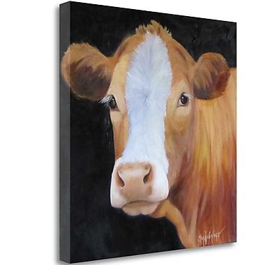 Tangletown Fine Art 'Bovine' Print on Wrapped Canvas; 18'' H x 18'' W