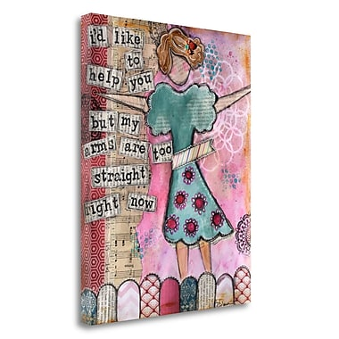 Tangletown Fine Art 'Arms are Too Straight' Graphic Art Print on Wrapped Canvas; 29'' H x 23'' W