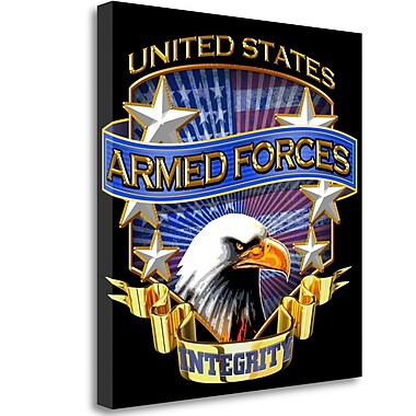 Tangletown Fine Art 'Armed Forces' Graphic Art Print on Wrapped Canvas; 24'' H x 24'' W