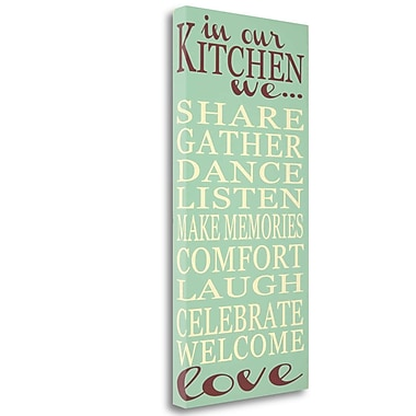 Tangletown Fine Art 'Kitchen' Textual Art on Wrapped Canvas; 34'' H x 17'' W