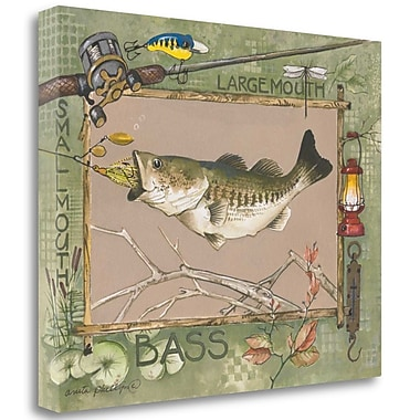 Tangletown Fine Art 'Large Mouth Bass' Graphic Art Print on Wrapped Canvas; 22'' H x 28'' W