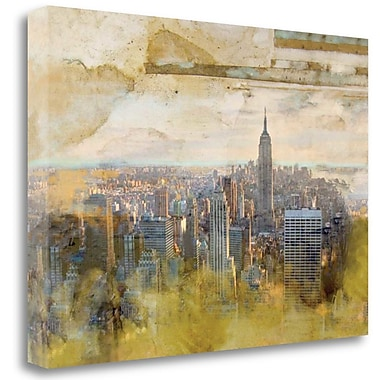 Tangletown Fine Art 'NYC Echelle' Graphic Art Print on Wrapped Canvas; 17'' H x 24'' W