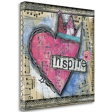 Tangletown Fine Art 'Inspire' Graphic Art Print on Wrapped Canvas; 30'' H x 30'' W