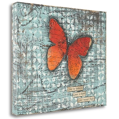 Tangletown Fine Art 'Love is Patient' Graphic Art Print on Wrapped Canvas; 21'' H x 27'' W
