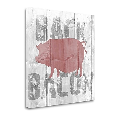 Tangletown Fine Art 'Back Bacon' Graphic Art Print on Wrapped Canvas; 25'' H x 25'' W
