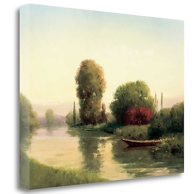 Tangletown Fine Art 'By the Riverside' Print on Wrapped Canvas; 18'' H x 24'' W