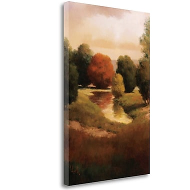 Tangletown Fine Art 'Summers Passage II' Graphic Art Print on Wrapped Canvas; 48'' H x 32'' W
