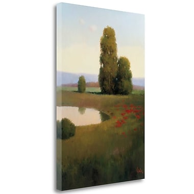 Tangletown Fine Art 'Lakeside' Graphic Art Print on Wrapped Canvas; 39'' H x 26'' W