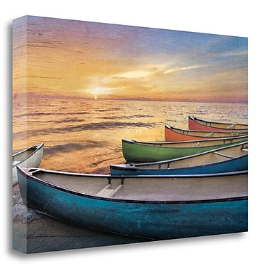 Tangletown Fine Art 'Rainbow Armada' Graphic Art Print on Wrapped Canvas; 26'' H x 39'' W