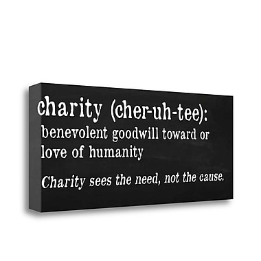 Tangletown Fine Art 'Charity Definition' Textual Art on Wrapped Canvas; 13'' H x 32'' W