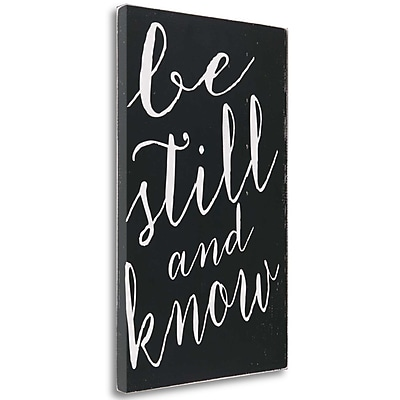 Tangletown Fine Art 'Be Still' Textual Art on Wrapped Canvas; 33'' H x 21'' W