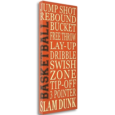 Tangletown Fine Art 'Basketball' Textual Art on Wrapped Canvas; 48'' H x 23'' W