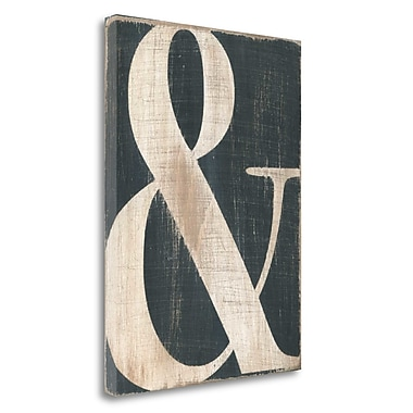 Tangletown Fine Art 'Ampersand' Textual Art on Wrapped Canvas; 48'' H x 35'' W