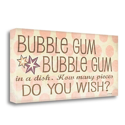 Tangletown Fine Art 'Bubble Gum' Textual Art on Wrapped Canvas; 13'' H x 29'' W