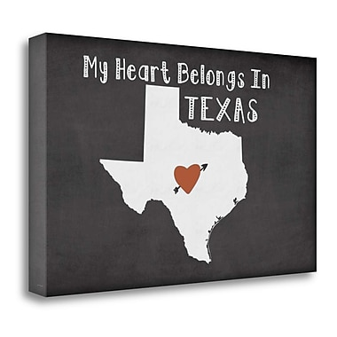 Tangletown Fine Art 'Texas Chalk' Graphic Art Print on Wrapped Canvas; 15'' H x 24'' W