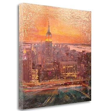 Tangletown Fine Art 'Uptown Manhattan' Graphic Art Print on Wrapped Canvas; 25'' H x 25'' W