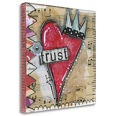 Tangletown Fine Art 'Trust' Graphic Art Print on Wrapped Canvas; 35'' H x 35'' W