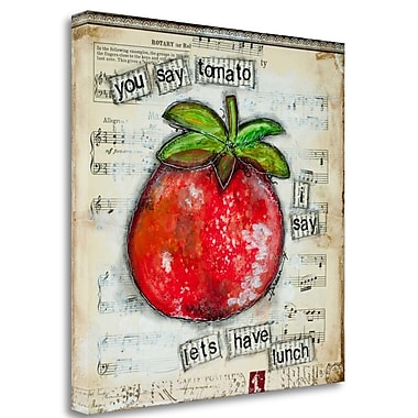 Tangletown Fine Art 'You Say Tomato' Graphic Art Print on Wrapped Canvas; 27'' H x 27'' W