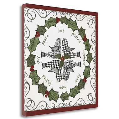Tangletown Fine Art 'Wreath' Graphic Art Print on Wrapped Canvas; 35'' H x 35'' W