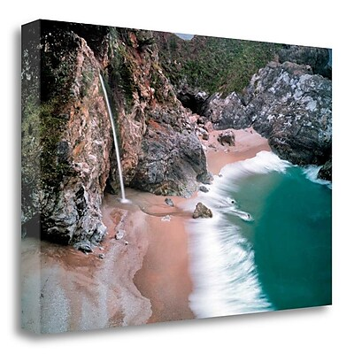 Tangletown Fine Art 'Waterfall' Photographic Print on Wrapped Canvas; 15'' H x 23'' W