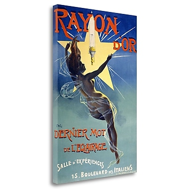 Tangletown Fine Art 'Rayon Or' Vintage Advertisement on Wrapped Canvas; 29'' H x 20'' W