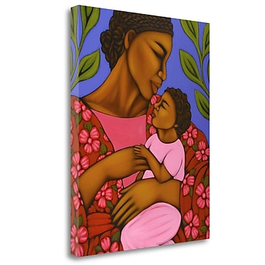 Tangletown Fine Art 'African Mother and Baby' Print on Wrapped Canvas; 27'' H x 21'' W