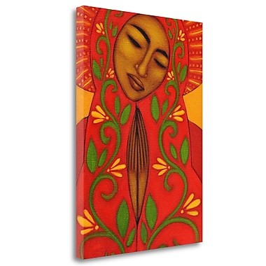 Tangletown Fine Art 'Red Madonna' Graphic Art Print on Wrapped Canvas; 40'' H x 28'' W